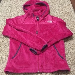 North Face Hooded Fleece Zip up Jacket